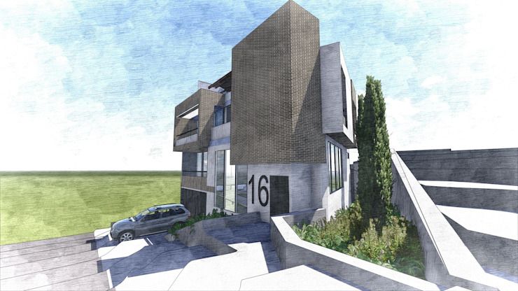 Ilustración general Casas modernas de Le.tengo Arquitectos Moderno