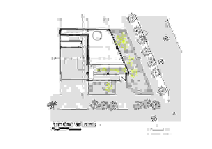 Planta sótano Garajes de estilo moderno de Le.tengo Arquitectos Moderno
