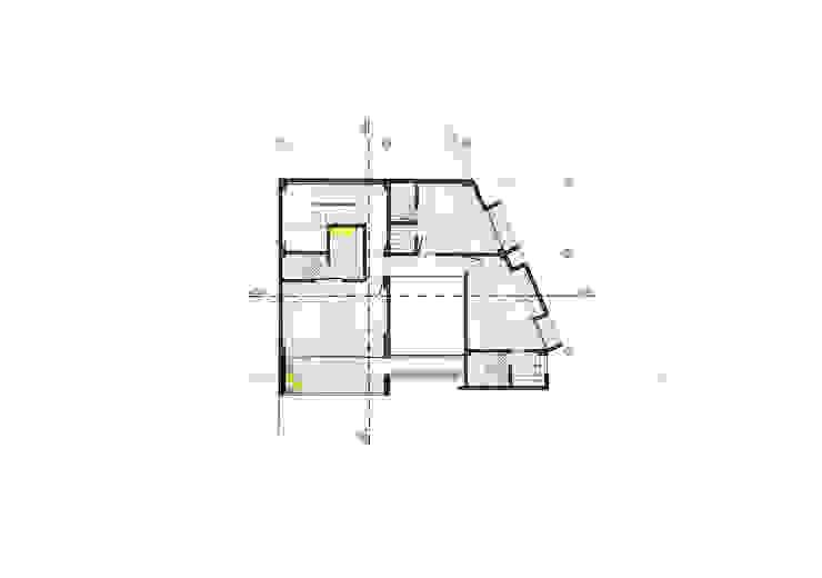 Planta piso 2 Habitaciones modernas de Le.tengo Arquitectos Moderno