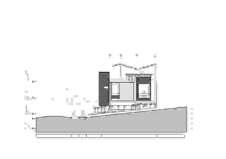 Fachada lateral Casas modernas de Le.tengo Arquitectos Moderno