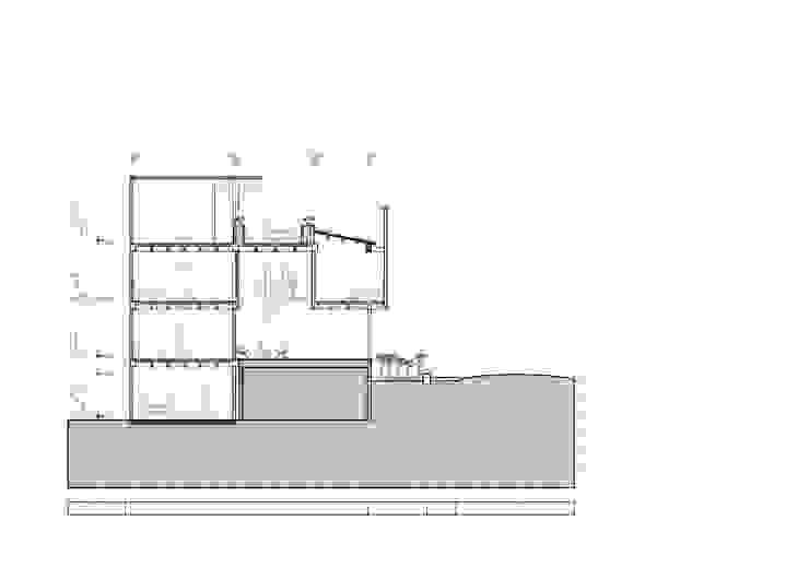 Sección transversal Casas modernas de Le.tengo Arquitectos Moderno