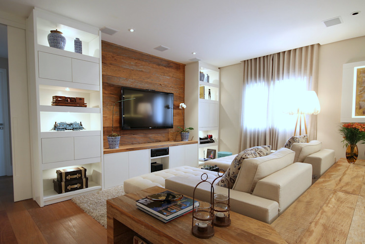 Living room by MeyerCortez arquitetura & design, Modern