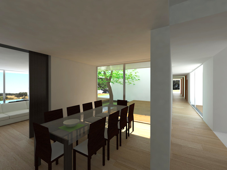 Carlos Fazenda, arquitectos Salle à manger minimaliste