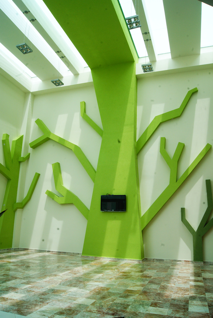 CENTRO DE JUBILADOS Y PENSIONADOS DEL SERVICIO PÚBLICO Comedores minimalistas de AR+D arquitectos Minimalista