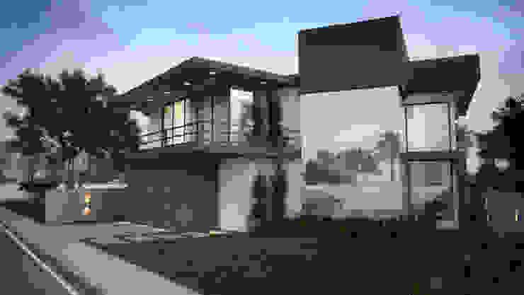 Casa do Bosque - Fachada Frente IVVA Construindo Valores Casas modernas