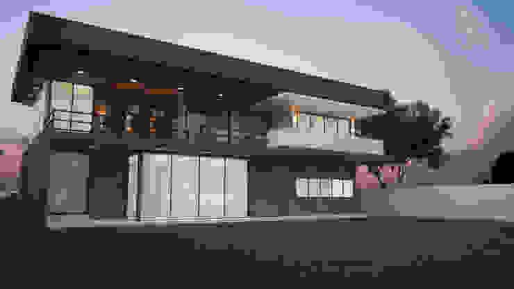 Casa do Bosque - Fachada Fundos Casas modernas por IVVA Construindo Valores Moderno