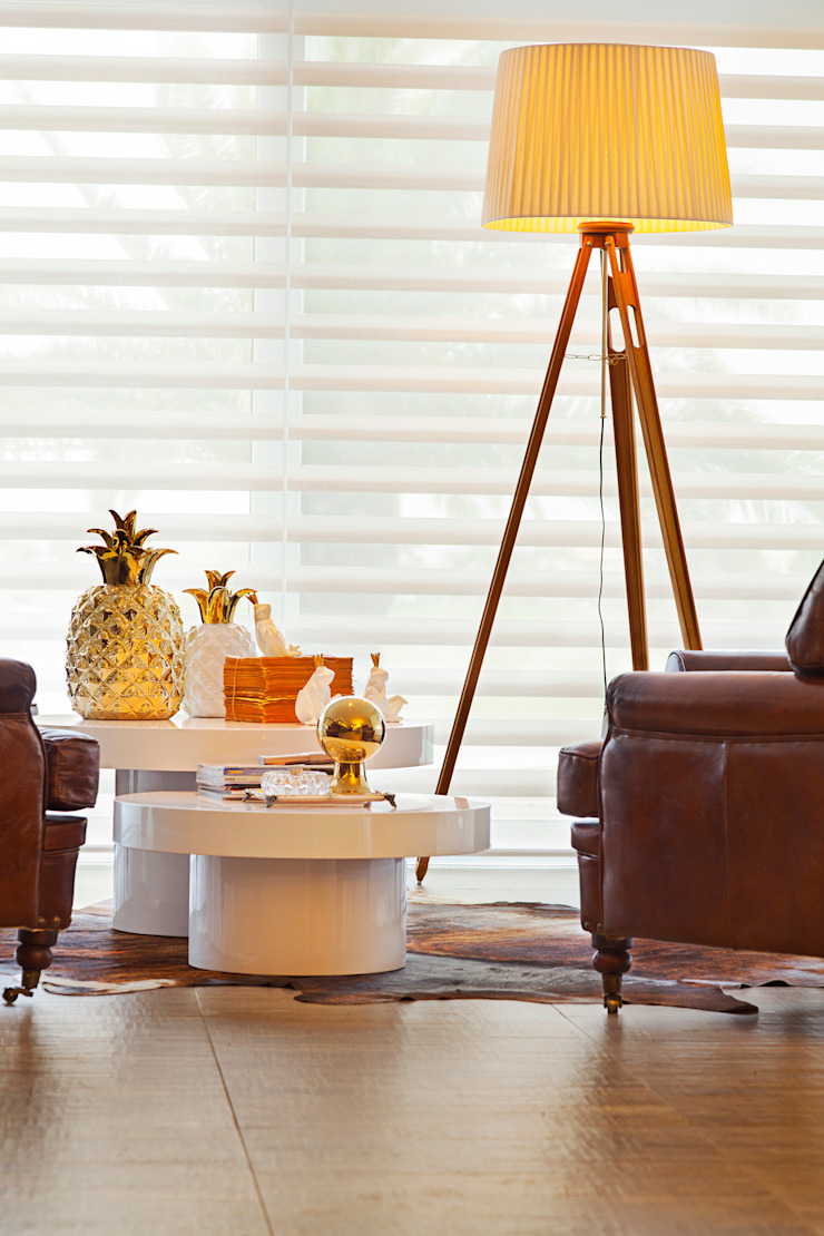 APARTAMENTO TERRAVILLE Salas de estar modernas por Joana & Manoela Arquitetura Moderno