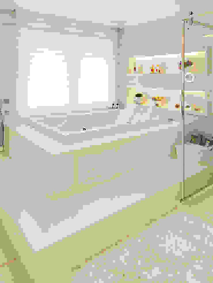 APARTAMENTO TERRAVILLE Banheiros modernos por Joana & Manoela Arquitetura Moderno