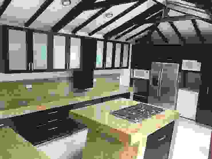 Vista General Cocinas modernas de LOPEZCAJIAO Moderno Madera Acabado en madera