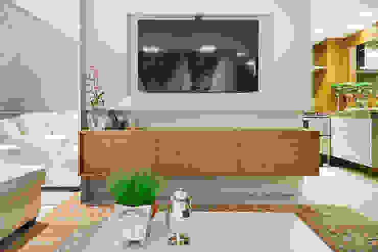 APARTAMENTO PORTO ALEGRE Salas de estar modernas por Joana & Manoela Arquitetura Moderno