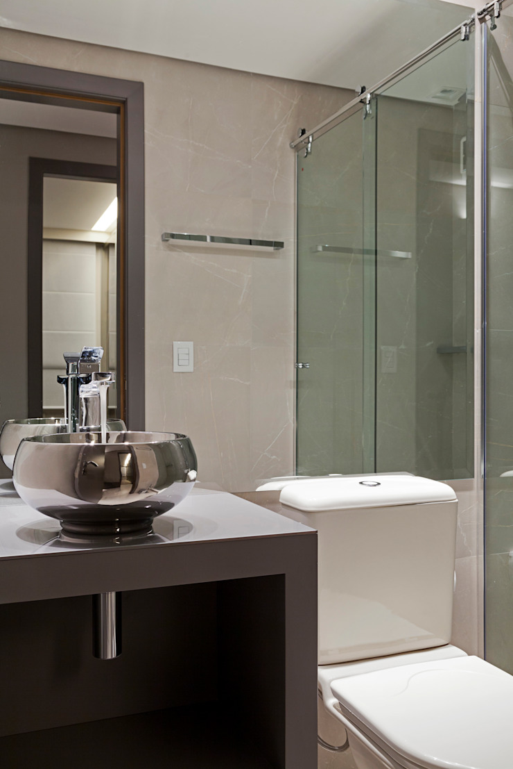 APARTAMENTO PORTO ALEGRE Banheiros modernos por Joana & Manoela Arquitetura Moderno