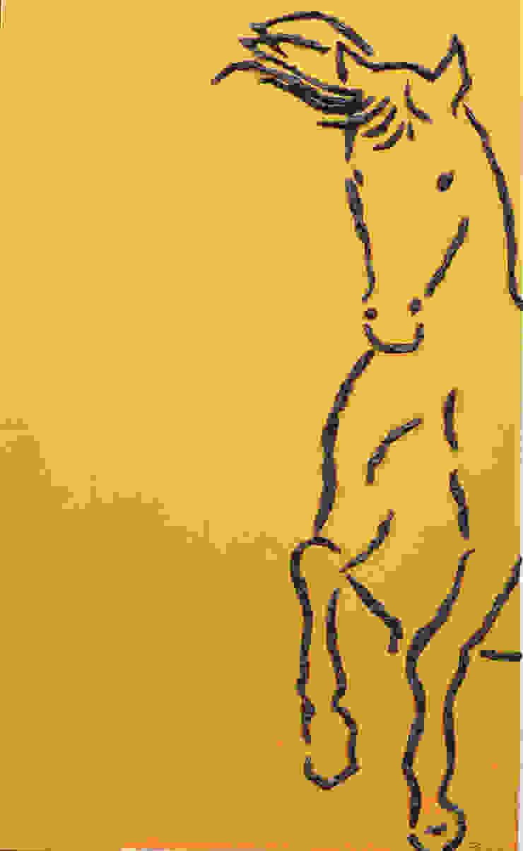 Golden Horse por Blue Art Factory Moderno