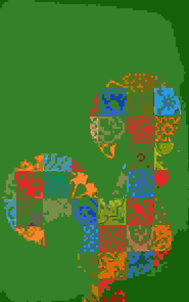 Galo de Barcelos - ICONIC POP.tugal por Blue Art Factory Moderno
