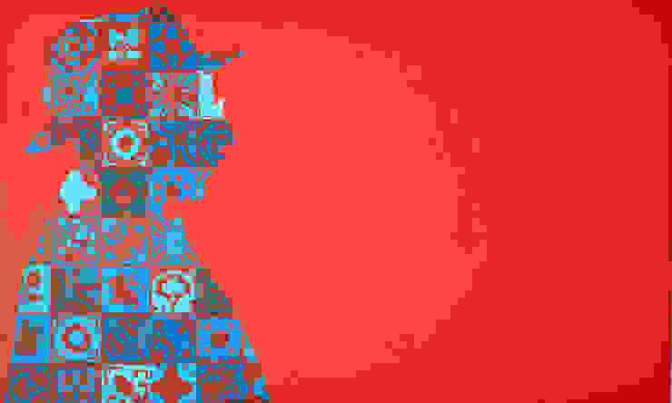 Pessoa aos azulejos - POP.tugal por Blue Art Factory Moderno