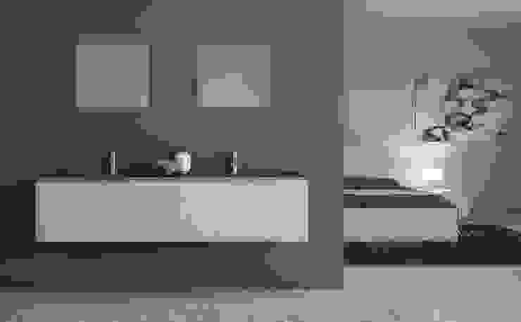 Inmateria Paredes y pisos de estilo minimalista
