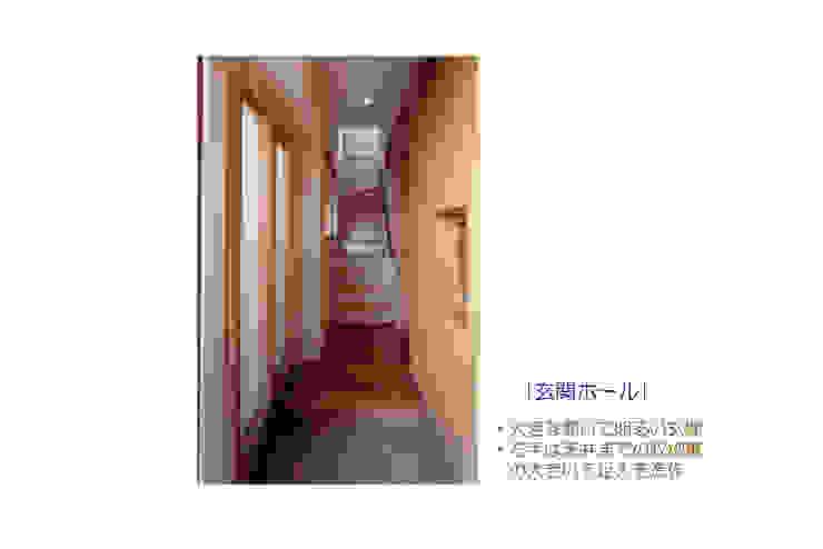 Eklektyczny korytarz, przedpokój i schody od 豊田空間デザイン室 一級建築士事務所 Eklektyczny