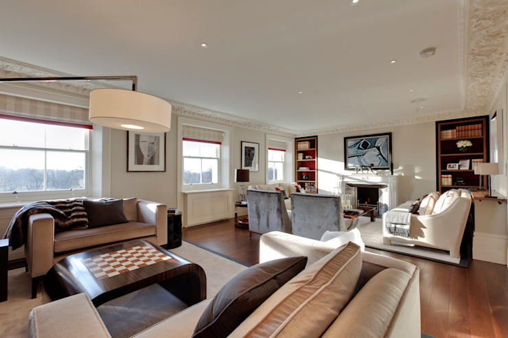 Lancasters Show Apartments - Open planned living Modern living room by LINLEY London Modern