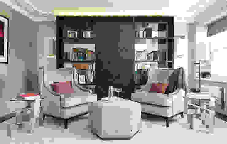 Lancasters Show Apartments - Formal Living Room LINLEY London 现代客厅設計點子、靈感 & 圖片