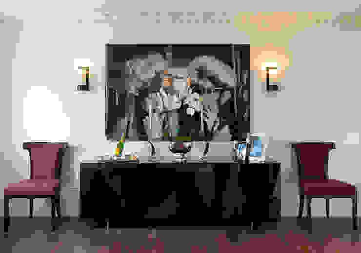 Lancasters Show Apartments - Hallways LINLEY London 現代風玄關、走廊與階梯
