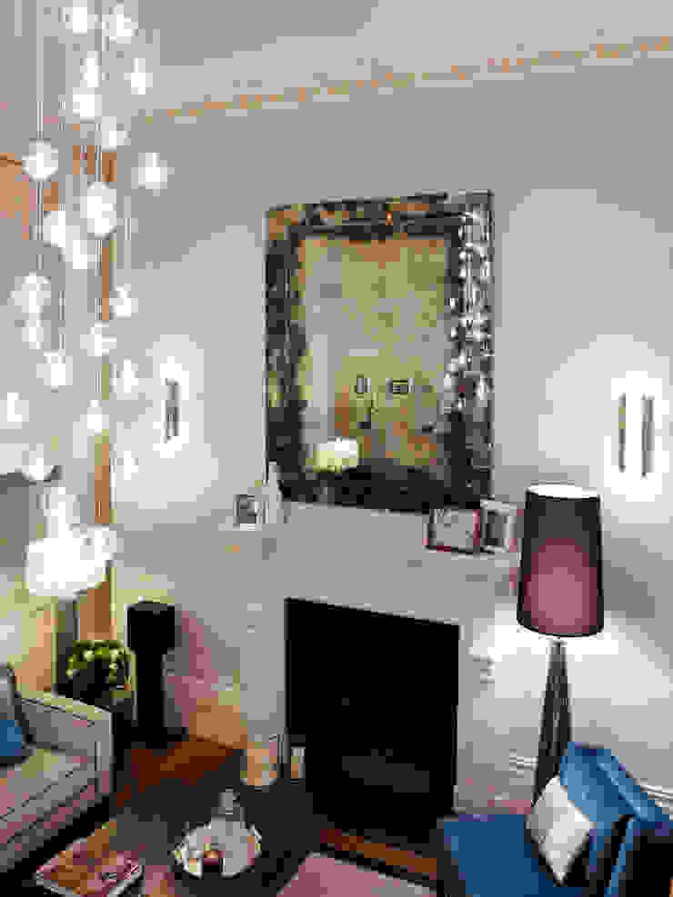 Lancasters Show Apartments - Living Room LINLEY London 现代客厅設計點子、靈感 & 圖片