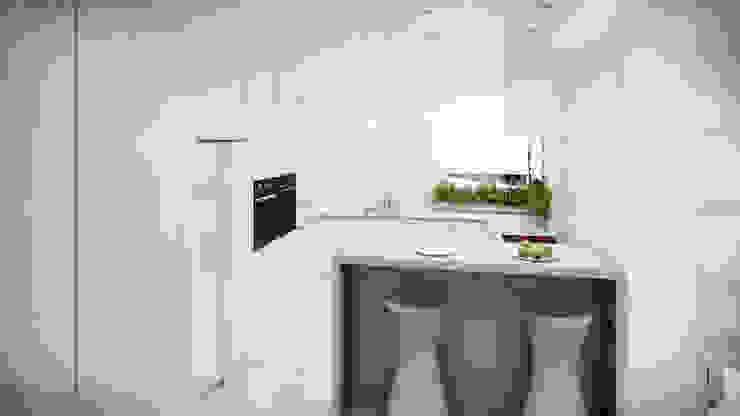Dom, pow. 210 m2, Chwaszczyno Nowoczesna kuchnia od 3miasto design Nowoczesny