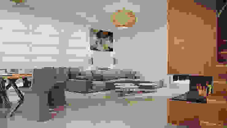 Dom, pow. 210 m2, Chwaszczyno Nowoczesny salon od 3miasto design Nowoczesny
