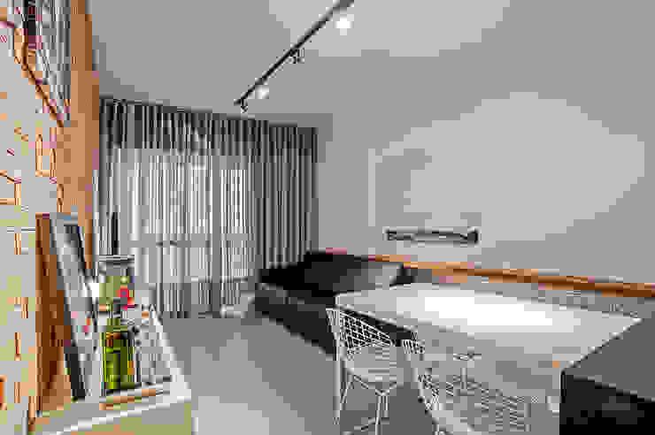 Apartamento LB Studio Boscardin.Corsi Arquitetura Salas de jantar modernas