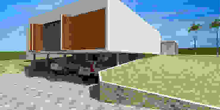 Garagem - Casa - Park Way - Brasília/DF Garagens e edículas modernas por Arquitetura do Brasil Moderno
