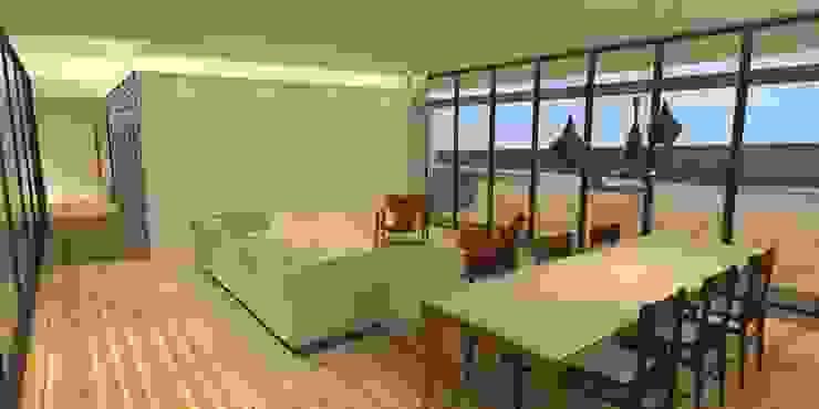 Sala da Estar - Casa - Park Way - Brasília/DF Salas de estar modernas por Arquitetura do Brasil Moderno