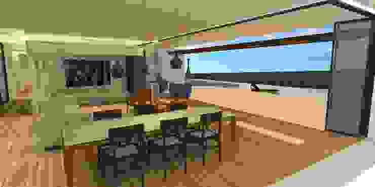 Sala da Jantar - Casa - Park Way - Brasília/DF Salas de jantar modernas por Arquitetura do Brasil Moderno