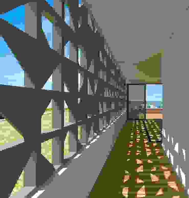 Terraço - Casa - Park Way - Brasília/DF Varandas, alpendres e terraços modernos por Arquitetura do Brasil Moderno