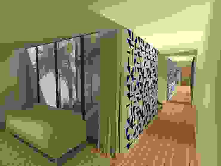 Corredor - Casa - Park Way - Brasília/DF Corredores, halls e escadas modernos por Arquitetura do Brasil Moderno