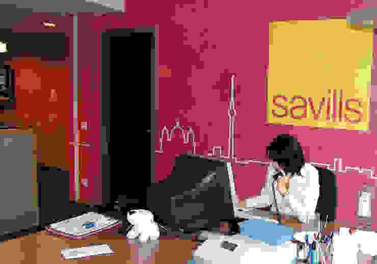 Wandschablonen Logodesign ab-design GmbH Moderne Wände & Böden