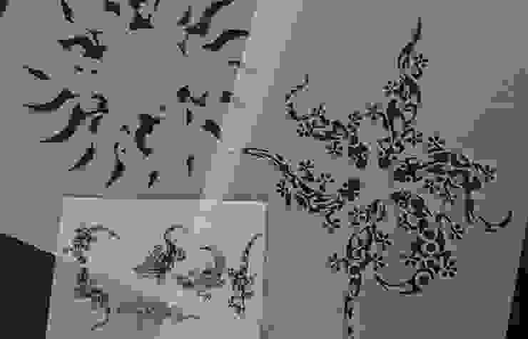Wandschablonen Tattoo ab-design GmbH Moderne Wände & Böden