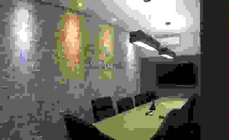 Sala de reunião - Escritório OOSCHAI - Brasil Espaços comerciais modernos por Arquitetura Ecológica Moderno