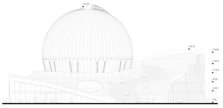 """Учебно-исследовательский центр HHN """"Газгольдер"""" от db-arch studio"""