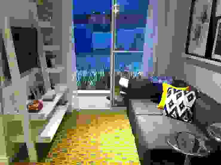 Livings de estilo  por Fabiana Rosello Arquitetura e Interiores,