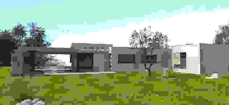 fachada back Casas modernas: Ideas, imágenes y decoración de modulo cinco arquitectura Moderno Hormigón
