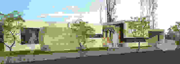 fachada frontal Casas modernas: Ideas, imágenes y decoración de modulo cinco arquitectura Moderno Hormigón