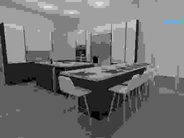 Diseño ArceCocinas Cocinas de estilo moderno de ARCE FLORIDA Moderno Madera Acabado en madera