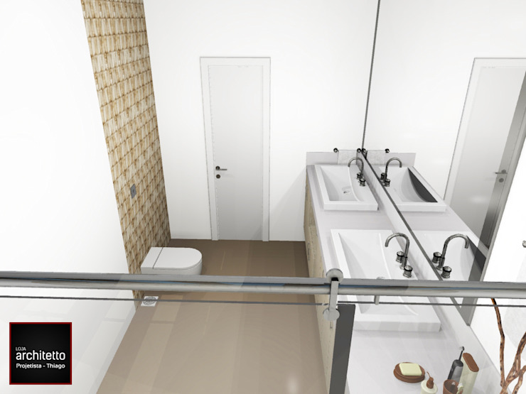 Banheiro Casal luxuoso Banheiros modernos por Loja Architetto Moderno