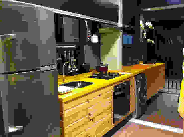 Decorado 49m² Cozinhas ecléticas por Fabiana Rosello Arquitetura e Interiores Eclético