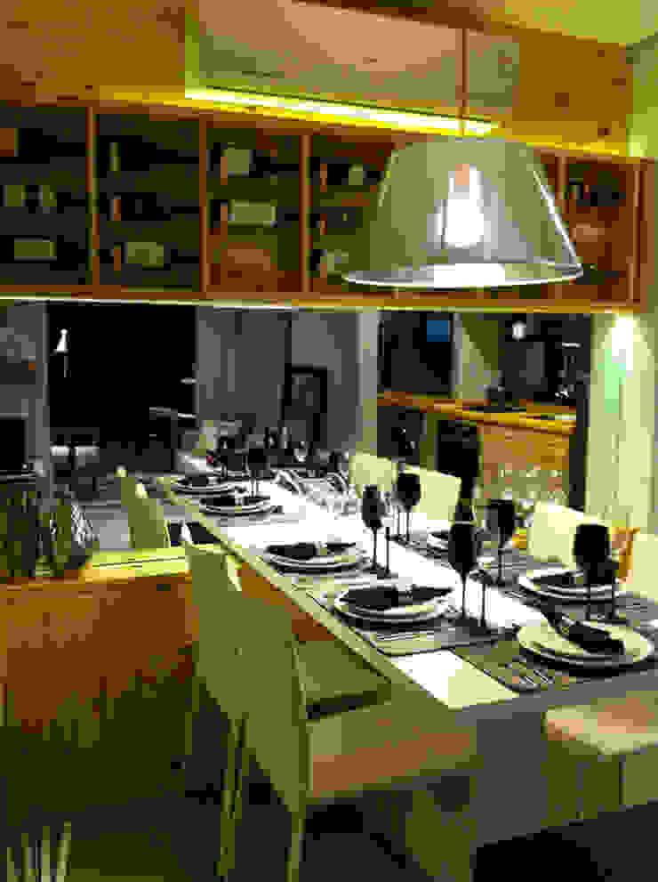 Decorado 49m² Salas de jantar ecléticas por Fabiana Rosello Arquitetura e Interiores Eclético
