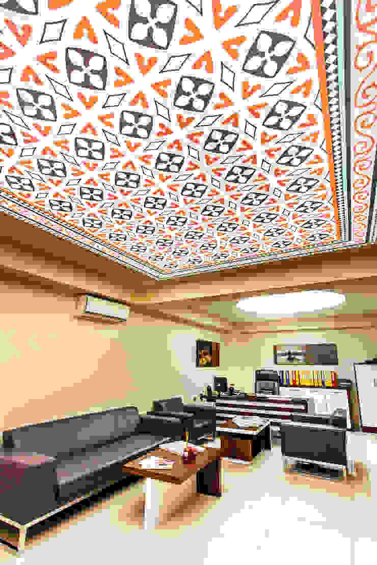 Stretch Ceiling Rustik Oturma Odası Internova Stretch Ceiling & 3d Flooring Rustik