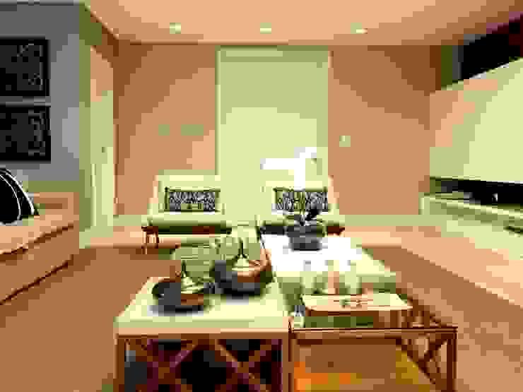 AH HOUSE Salas de estar modernas por Hipérbato Arquitetura Moderno Madeira Efeito de madeira
