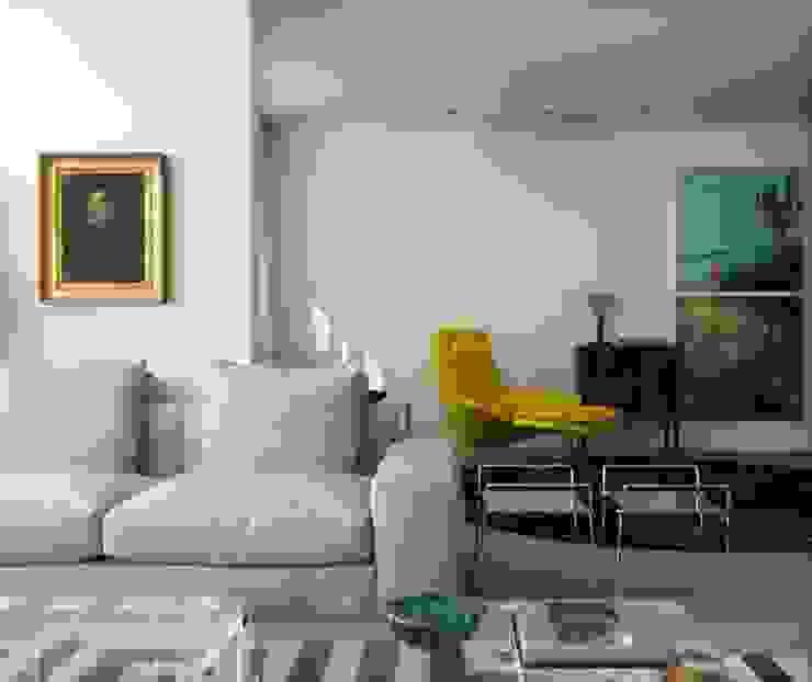 Apartamento Vila Nova Conceição 1 Salas de estar modernas por Antônio Ferreira Junior e Mário Celso Bernardes Moderno
