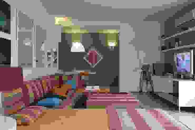 Apartamento Guarujá Salas de estar modernas por Antônio Ferreira Junior e Mário Celso Bernardes Moderno