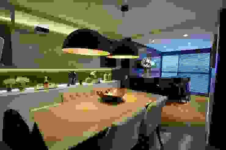 Morar e receber bem Salas de jantar modernas por Marcelo Minuscoli - Projetos Personalizados Moderno