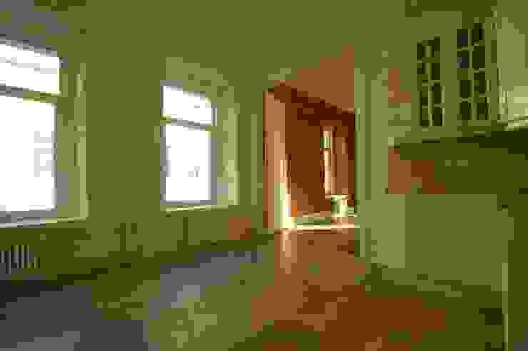 Chistie Prudy flat. Total reconstruction. Cuisine classique par Alexander Krivov Classique Briques