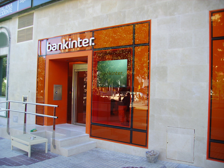 FACHADA diseño y construcción acima,s.l. Oficinas y tiendas de estilo minimalista Vidrio